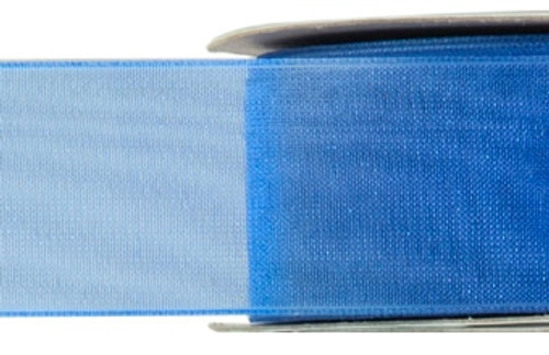 Chiffon Ribbon - Royal Blue - (x1 reel 25mtr) | MeridianSP