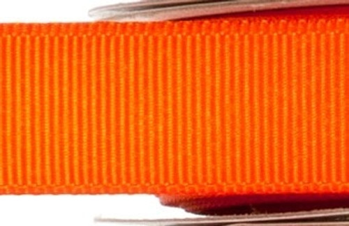 Grosgrain Fabric Ribbon - Orange - (x1 reel 20mtr) | MeridianSP