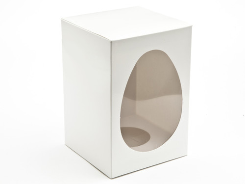 Medium Easter Egg Carton and Plinth - White | MeridianSP