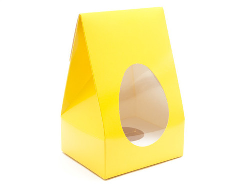 Medium Tapered Easter Egg Carton & Plinth - Sunshine Yellow | MeridianSP