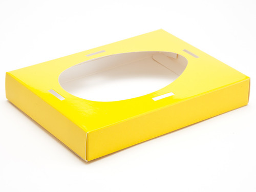 Medium Easter Egg Easter Egg Plinth for Transparent Carton - Sunshine Yellow | MeridianSP