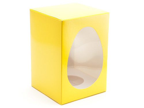 Medium Easter Egg Carton and Plinth - Sunshine Yellow | MeridianSP