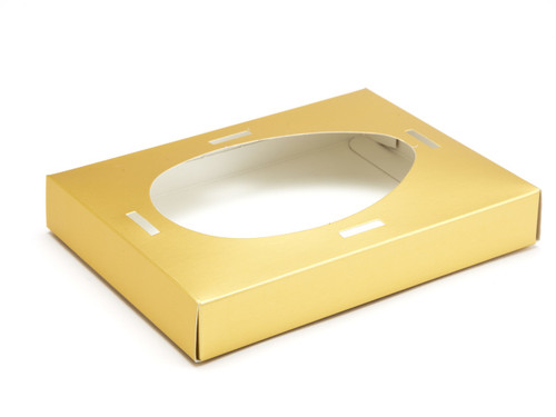 Medium Easter Egg Plinth for Transparent Carton - Matt Gold | MeridianSP