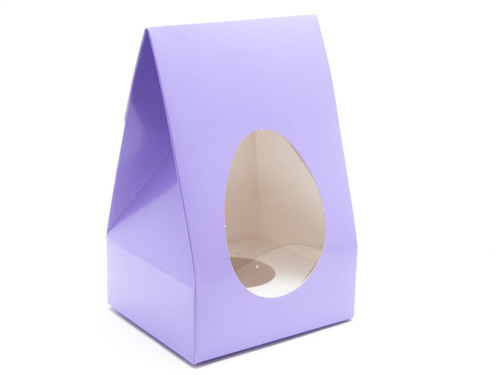 Medium Tapered Easter Egg Carton & Plinth - Lilac | MeridianSP