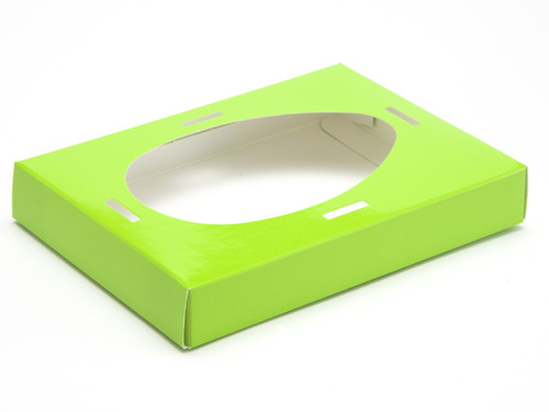 Medium Easter Egg Plinth for Transparent Carton - Vibrant Green | MeridianSP
