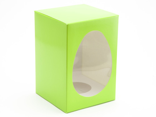 Medium Easter Egg Carton and Plinth - Vibrant Green | MeridianSP