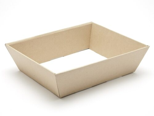 Medium Card Hamper Tray - Premium Ribbed Kraft | MeridianSP