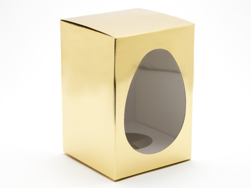 Medium Easter Egg Carton and Plinth - Bright Gold | MeridianSP