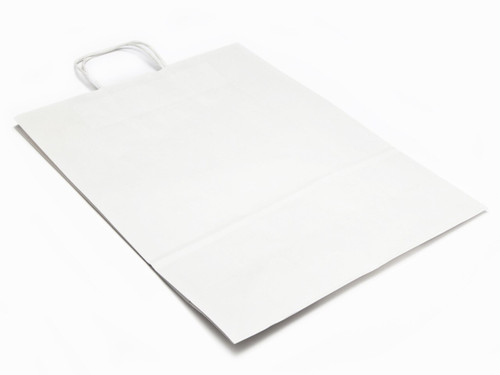 Large Paper Carrier Bag - White | MeridianSP