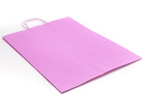 Large Paper Carrier Bag - Pink | MeridianSP