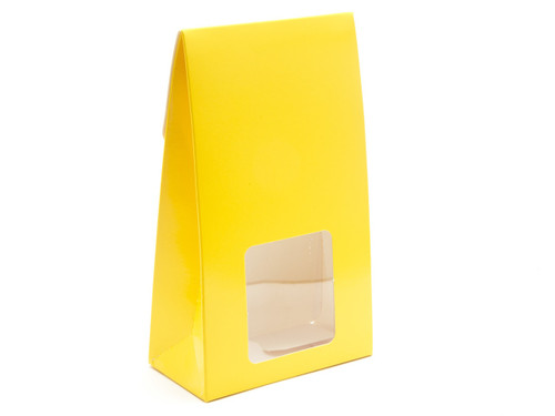 Large A-Frame Carton with Oval Window - Sunshine Yellow | MeridianSP