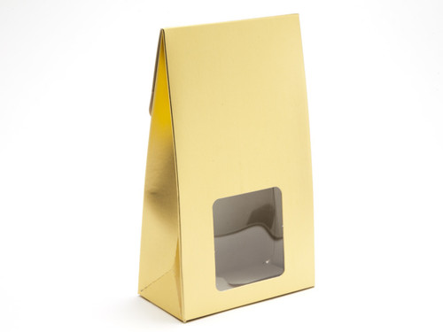 Large A-Frame Carton with Square Window - Matt Gold | MeridianSP