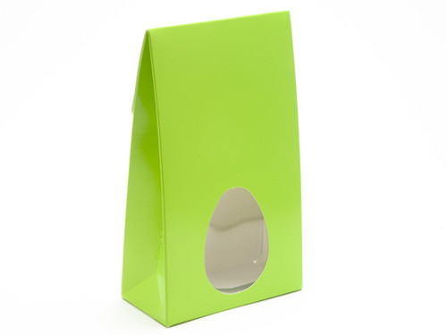 Large Tapered A-Frame Vibrant Green Windowed Carton