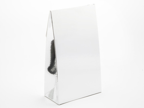 Large A-Frame Carton - Bright Silver | MeridianSP