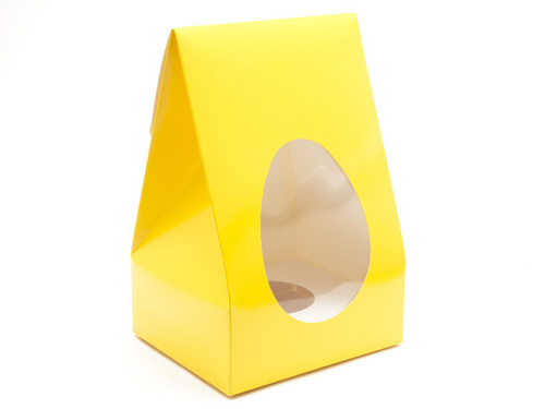 Large Tapered Easter Egg Carton and Plinth- Sunshine Yellow   MeridianSP