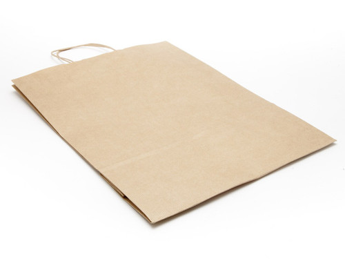 Large Paper Carrier Bag - Premium Ribbed Kraft | MeridianSP