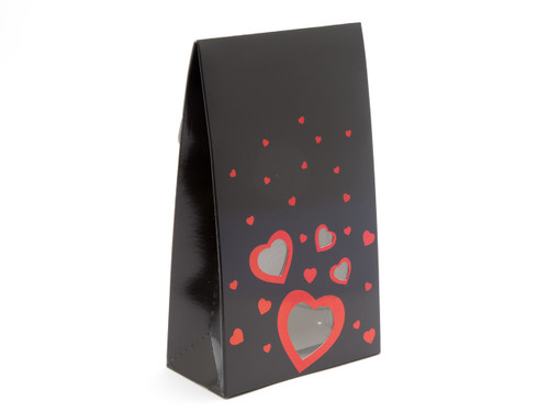 Large A-Frame Carton - Black with Red Foil - (Love Range) | MeridianSP