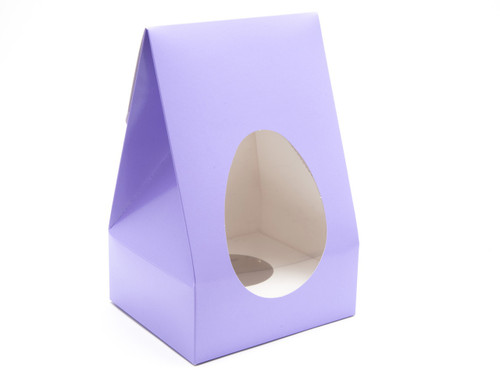 Large Tapered Easter Egg Carton & Plinth - Lilac | MeridianSP