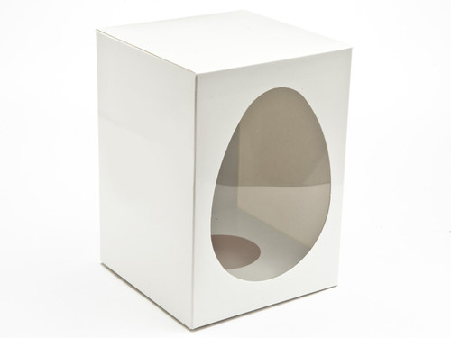 Large Easter Egg Carton and Plinth - White | MeridianSP