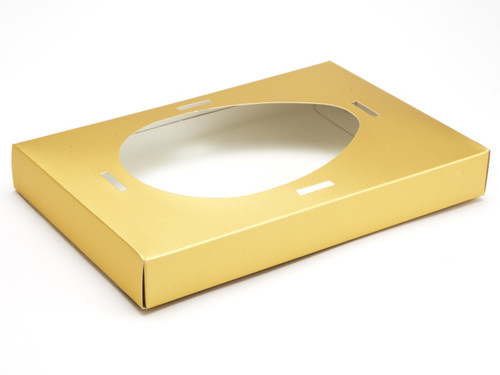 Large Easter Egg Plinth for Transparent Carton - Matt Gold | MeridianSP