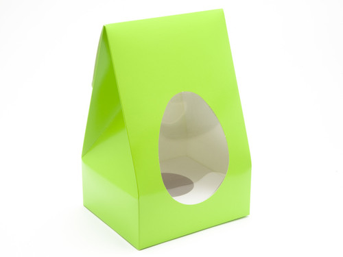 Large Tapered Easter Egg Carton and Plinth - Vibrant Green | MeridianSP
