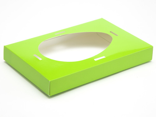 Large Easter Egg Plinth for Transparent Carton - Vibrant Green | MeridianSP