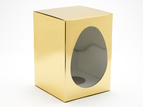Large Easter Egg Carton and Plinth - Bright Gold | MeridianSP