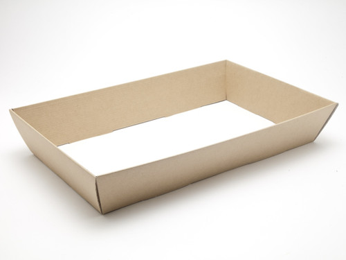 Large Card Hamper Tray - Premium Ribbed Kraft | MeridianSP