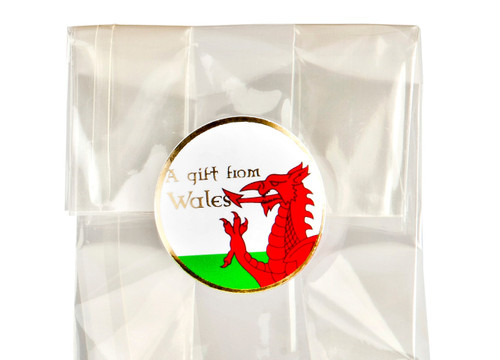 32mm Round Gift Label - A Gift from Wales - (250pcs) | MeridianSP