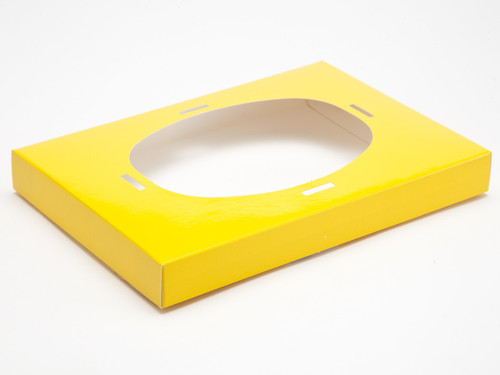 Ex Large Easter Egg Plinth for Transparent Carton - Sunshine Yellow | MeridianSP
