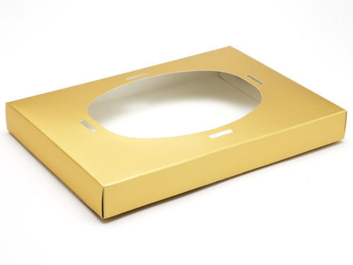 Ex Large Easter Egg Plinth for Transparent Carton - Matt Gold | MeridianSP