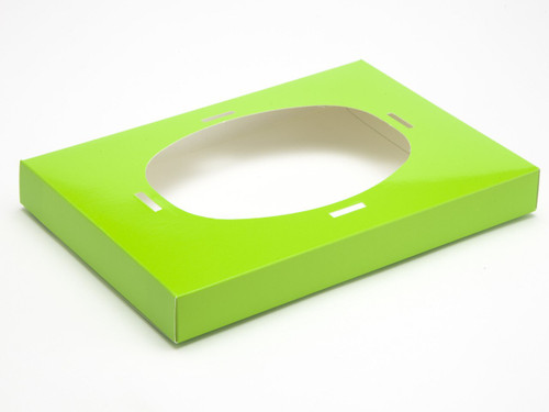 Ex Large Easter Egg Plinth for Transparent Carton - Vibrant Green | MeridianSP