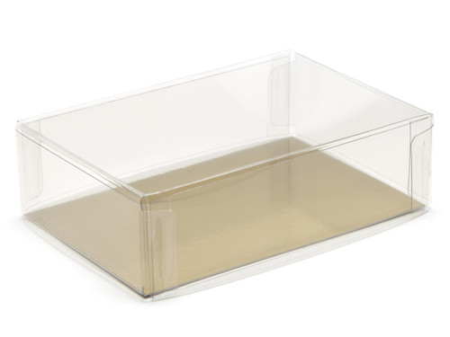 90x60x27 Rectangular Transparent Base and Lid - Clear | MeridianSP