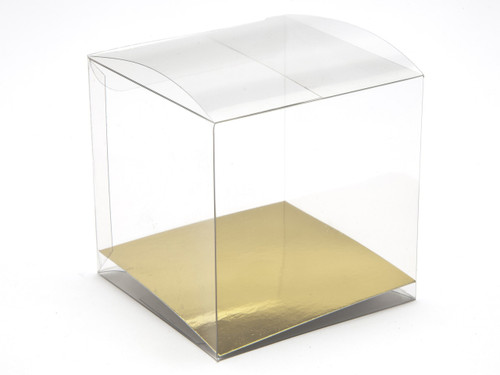 75mm Transparent Cube Carton - Clear | MeridianSP