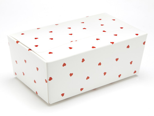 750g Ballotin - Small Red Hearts on White | MeridianSP