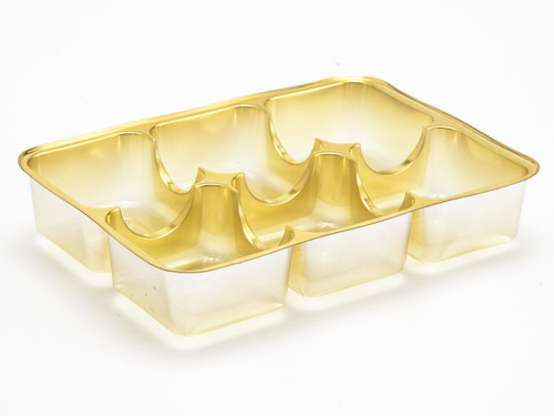 6 Choc Vac-Forme Tray - Gold | MeridianSP