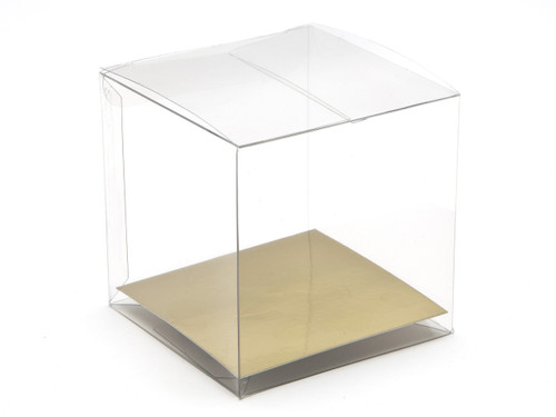 65mm Transparent Cube Carton - Clear | MeridianSP