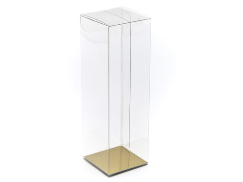 55x55x125 Rectangular Transparent Carton - Clear | MeridianSP