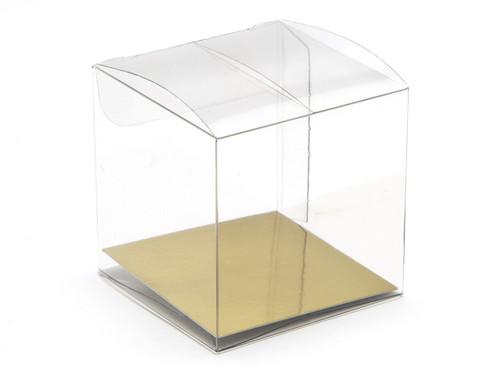 50mm Transparent Cube Carton - Clear | MeridianSP