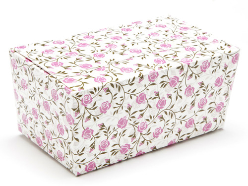 500g Rose Floral Ballotin Chocolate Box for Weddings, Parties, Mothers Day
