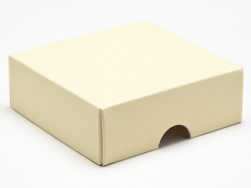 4 Choc Square Wibalin Lid - Cream - [LID ONLY] | MeridianSP