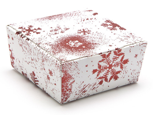 4 Choc Ballotin - Red and White Snowflake | MeridianSP