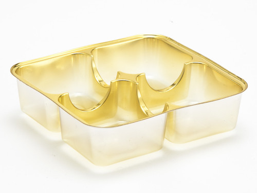 4 Choc Vac-Forme Tray - Gold | MeridianSP