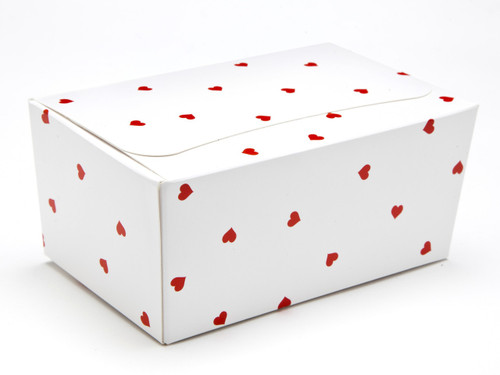 375g Ballotin - Small Red Hearts on White | MeridianSP