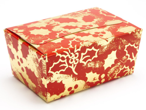 375g Ballotin - Red and Gold Holly | MeridianSP