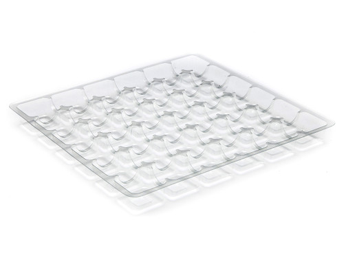 36 Choc Square Vac-Forme Tray - Clear | MeridianSP