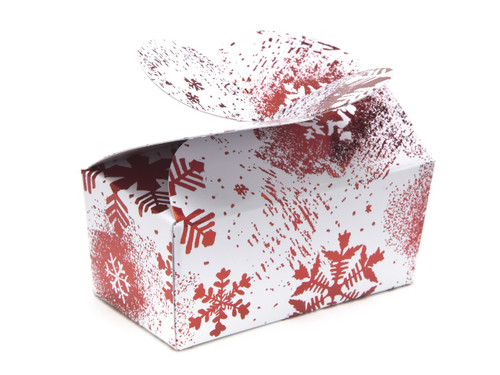 2 Choc Butterfly Ballotin - Red and White Snowflake| MeridianSP