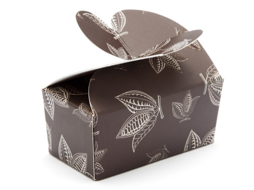 2 Choc Butterfly Ballotin - Brown Cocoa Pod| MeridianSP