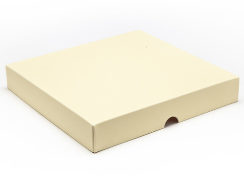 25 Choc Square Wibalin Lid - Cream - [LID ONLY]   MeridianSP