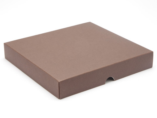 25 Choc Square Wibalin Lid - Brown - [LID ONLY] | MeridianSP